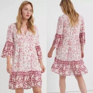 Lucky Brand Hazell peasant dress, size Small